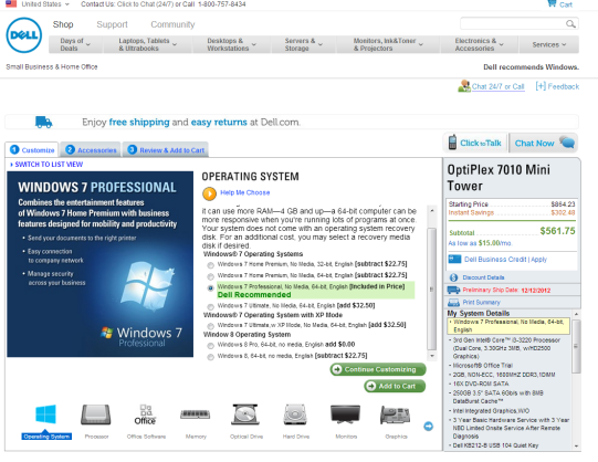 DELL Recommends Windows 7