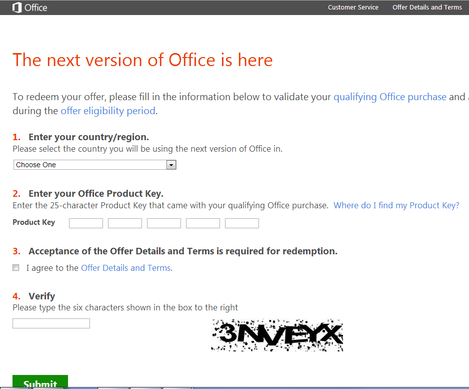 office 365 enter product key