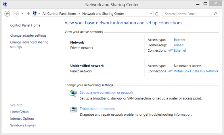 NetworkSharingCenter