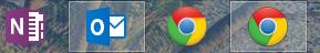 togliere la doppia icona dalla barra delle applicazioni